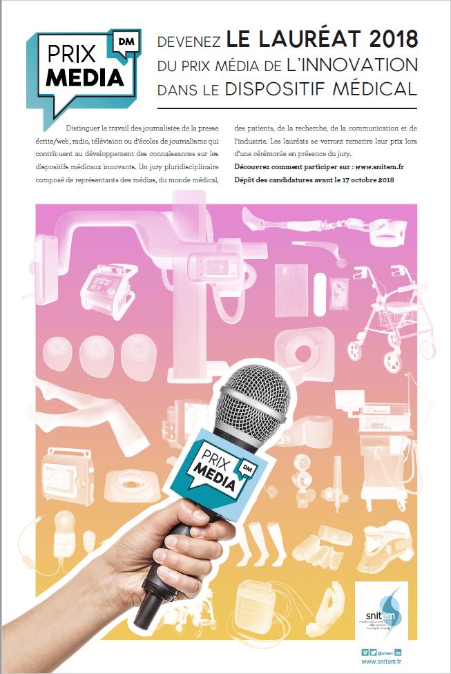 Lauréats du Prix média de l'innovation dans le dispositif médical !