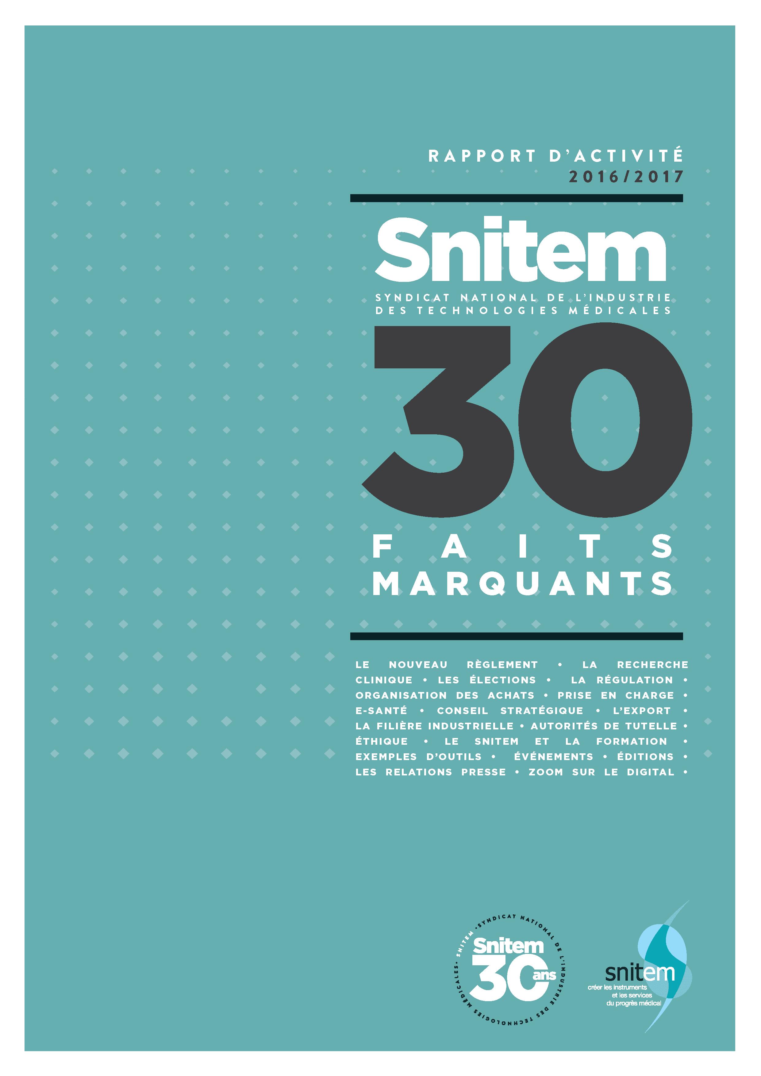 Rapport annuel du Snitem - 2017