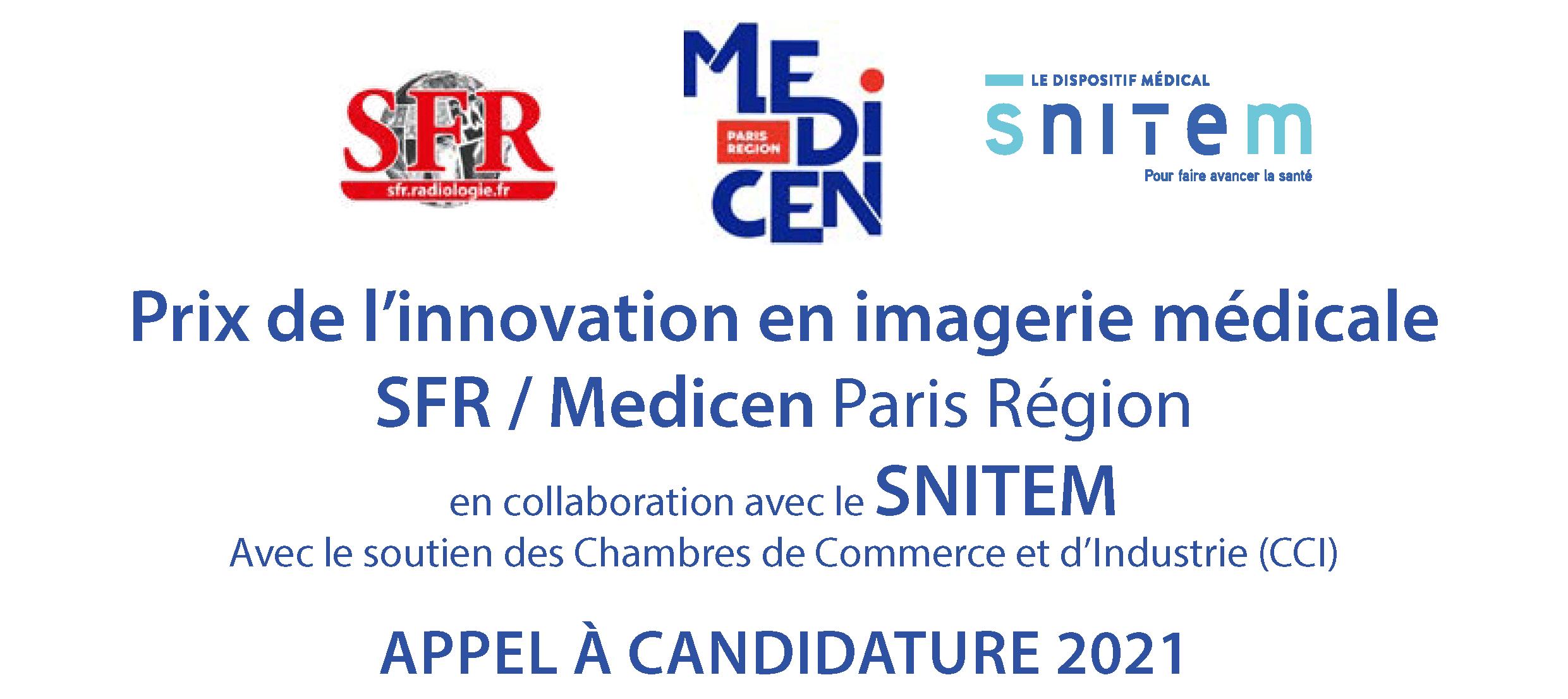 Prix de l'innovation en imagerie médicale SFR/Medicen/Snitem - édition 2021