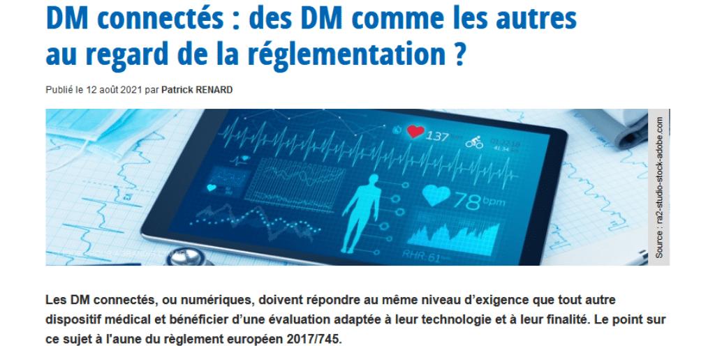 DM connectés : un point sur la réglementation